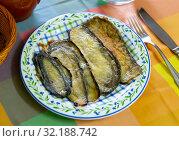 Купить «Nutritious stuffed eggplant with ham», фото № 32188742, снято 24 октября 2019 г. (c) Яков Филимонов / Фотобанк Лори