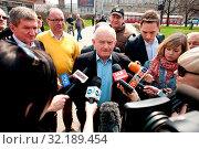 23.04.2013 Warsaw, Poland. Pictured: Leszek Miller. Редакционное фото, фотограф Brykczynski Donat / age Fotostock / Фотобанк Лори