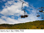Funicular in the mountains. Стоковое фото, фотограф Елена Блохина / Фотобанк Лори