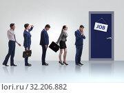 Купить «Recruitment concept with business people», фото № 32206882, снято 28 марта 2020 г. (c) Elnur / Фотобанк Лори
