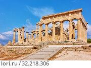 Купить «Ancient temple of Aphaea in Aegina», фото № 32218306, снято 13 сентября 2019 г. (c) Роман Сигаев / Фотобанк Лори