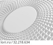 Купить «White parametric triangular round structure 3d», иллюстрация № 32218634 (c) EugeneSergeev / Фотобанк Лори