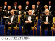 Business Center Club`s Gala. Warsaw, Poland. 16 01 2010. Pictured: Janusz Lewandowski, Marek Goliszewski, Jezry Buzek. Редакционное фото, фотограф nowak rafal / age Fotostock / Фотобанк Лори