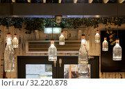 Купить «Lamps and lighting, Italian restaurant, Donostia, San Sebastian, Gipuzkoa, Basque Country, Spain, Europe», фото № 32220878, снято 26 марта 2019 г. (c) age Fotostock / Фотобанк Лори