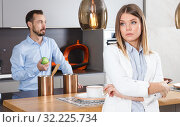 Купить «Woman offended after quarrel with husband», фото № 32225734, снято 24 мая 2018 г. (c) Яков Филимонов / Фотобанк Лори