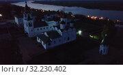Купить «Evening view from drones of Spaso-Preobrazhensky monastery in Murom», видеоролик № 32230402, снято 27 мая 2019 г. (c) Яков Филимонов / Фотобанк Лори