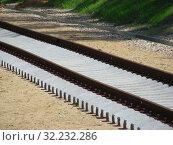 Купить «Железнодорожное полотно», эксклюзивное фото № 32232286, снято 4 июня 2015 г. (c) lana1501 / Фотобанк Лори
