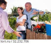Купить «Farm neighbors quarrel over farm backyard», фото № 32232706, снято 12 сентября 2019 г. (c) Яков Филимонов / Фотобанк Лори