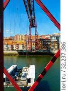 Bridge of Bizkaia. Getzo. Bizkaia. Basque Country. Spain (2019 год). Стоковое фото, фотограф Яков Филимонов / Фотобанк Лори