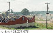 MINSK, BELARUS - JULY 03, 2019: WWII historical military reconstruction battle with explosions. Редакционное видео, видеограф Dzmitry Astapkovich / Фотобанк Лори