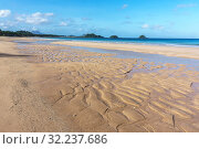 Scenic view of the Twin Beach in El Nido, Palawan, Philippines (2018 год). Редакционное фото, фотограф Степанов Илья / Фотобанк Лори