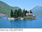 Купить «Natural islet with Saint George Benedictine monastery. Kotor Bay. Montenegro», фото № 32237814, снято 10 июня 2019 г. (c) Володина Ольга / Фотобанк Лори
