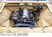 Купить «Tuned turbo car engine of Lada car», фото № 32240686, снято 19 мая 2018 г. (c) FotograFF / Фотобанк Лори
