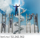 Купить «Competition concept with businessman beating competitors», фото № 32242362, снято 3 июля 2020 г. (c) Elnur / Фотобанк Лори