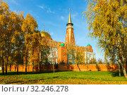 Russia, Samara, October 2016: Unique architectural complex. Cathedral Mosque of Samara. Редакционное фото, фотограф Акиньшин Владимир / Фотобанк Лори