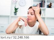 portrait depressed woman. Стоковое фото, фотограф Яков Филимонов / Фотобанк Лори