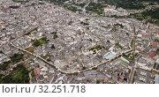 Купить «Aerial view on the city Lugo. Galicia. Spain», видеоролик № 32251718, снято 19 июня 2019 г. (c) Яков Филимонов / Фотобанк Лори