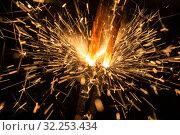 Купить «Holiday sparks close up», фото № 32253434, снято 29 сентября 2015 г. (c) Argument / Фотобанк Лори