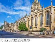 Университетская церковь Святой Девы Марии. Оксфорд. Великобритания (2019 год). Редакционное фото, фотограф Сергей Афанасьев / Фотобанк Лори