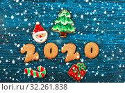 Купить «Gingerbreads for new 2020 years», фото № 32261838, снято 15 ноября 2016 г. (c) Jan Jack Russo Media / Фотобанк Лори