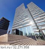 Купить «Lanxess AG Headquarter, Koeln, Rheinland, Nordrhein-Westfalen, Deutschland, Europa», фото № 32271958, снято 21 января 2020 г. (c) age Fotostock / Фотобанк Лори