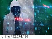 Купить «Composite image of robber wearing gray hoodie», фото № 32274186, снято 16 октября 2019 г. (c) Wavebreak Media / Фотобанк Лори