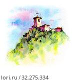 Купить «Guaita fortress in San Marino», иллюстрация № 32275334 (c) Коваленкова Ольга / Фотобанк Лори