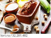 Купить «Zucchini cake with cocoa powder», фото № 32281482, снято 11 июля 2019 г. (c) Надежда Мишкова / Фотобанк Лори