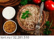 Купить «Homemade jelly meat», фото № 32281510, снято 10 октября 2019 г. (c) Надежда Мишкова / Фотобанк Лори