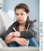 Girl being sad. Стоковое фото, фотограф Яков Филимонов / Фотобанк Лори