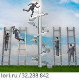 Купить «Competition concept with businessman beating competitors», фото № 32288842, снято 3 июля 2020 г. (c) Elnur / Фотобанк Лори