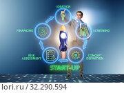 Купить «Concept of start-up and entrepreneurship», фото № 32290594, снято 22 ноября 2019 г. (c) Elnur / Фотобанк Лори