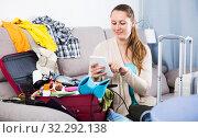 Купить «Woman getting ready for holidays», фото № 32292138, снято 21 марта 2017 г. (c) Яков Филимонов / Фотобанк Лори