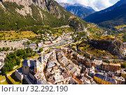 Купить «Aerial view of Briancon», фото № 32292190, снято 31 августа 2019 г. (c) Яков Филимонов / Фотобанк Лори