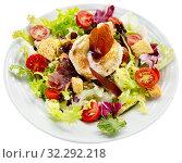 Купить «Salad with goat cheese», фото № 32292218, снято 25 мая 2020 г. (c) Яков Филимонов / Фотобанк Лори
