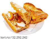 Купить «Sandwich with eggs, anchovies», фото № 32292242, снято 12 декабря 2019 г. (c) Яков Филимонов / Фотобанк Лори