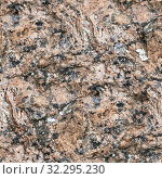 Купить «Seamless background, texture of hewn unpolished natural stone granite», фото № 32295230, снято 23 сентября 2019 г. (c) Юлия Бабкина / Фотобанк Лори