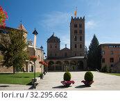 Купить «Monastery of Santa Maria in town of Ripoll, Spain», фото № 32295662, снято 16 июля 2017 г. (c) Яков Филимонов / Фотобанк Лори