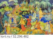 Купить «Palekh traditional miniature, Palekh, Ivanovo region, Russia.», фото № 32296482, снято 7 сентября 2018 г. (c) age Fotostock / Фотобанк Лори