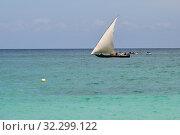 Купить «Dhow boat. Zanzibar, Tanzania, Africa», фото № 32299122, снято 4 октября 2019 г. (c) Знаменский Олег / Фотобанк Лори