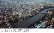Купить «City Zaragoza on dawn. Aerial view. Spain», видеоролик № 32301290, снято 25 декабря 2018 г. (c) Яков Филимонов / Фотобанк Лори