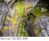 Купить «Карстовая пещера Кутук-Сумган. Вид с воздуха. Sumgan-Kutuk karst cave. Aerial view.», фото № 32301358, снято 3 июня 2020 г. (c) Евгений Романов / Фотобанк Лори