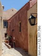 Купить «View of street fortified town Monemvasia (Laconia, Greece, Peloponnese)», фото № 32307766, снято 15 июня 2019 г. (c) Татьяна Ляпи / Фотобанк Лори