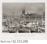 Купить «Artistâ.s impression of World's Columbian Exposition in Chicago, in 1893. The Fair celebrated the 400th anniversary of Christopher Columbus's arrival in...», фото № 32313290, снято 7 апреля 2019 г. (c) age Fotostock / Фотобанк Лори