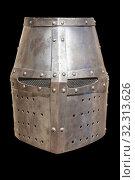 Christian flat full helmet, also used by moorish armies during Reconquista period, 11-13th Century. Стоковое фото, фотограф Juan García Aunión / age Fotostock / Фотобанк Лори