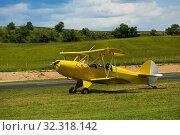 Biplane parked on aerodrome. Стоковое фото, фотограф Яков Филимонов / Фотобанк Лори