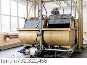 Old conche machine in the shop of a confectionery factory. Стоковое фото, фотограф Евгений Харитонов / Фотобанк Лори