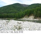 Туристы на реке Урик. Стоковое фото, фотограф Юрий Хабаров / Фотобанк Лори