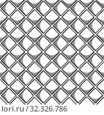 Купить «Abstract seamless geometric pattern with square elements. Simple black and white linear mosaic texture. Vector», иллюстрация № 32326786 (c) Dmitry Domashenko / Фотобанк Лори