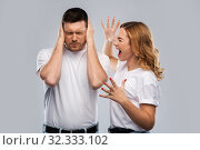 unhappy couple having argument. Стоковое фото, фотограф Syda Productions / Фотобанк Лори